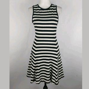 Banana Republic perforated striped a-line dress